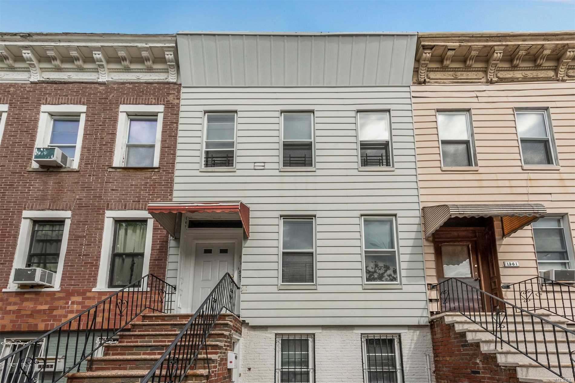 Photo of home for sale at 1359 Prospect Pl, Brooklyn NY