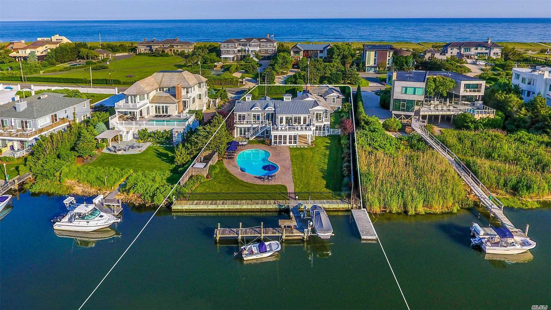 Photo of home for sale at 126 Dune Rd, Westhampton Bch NY