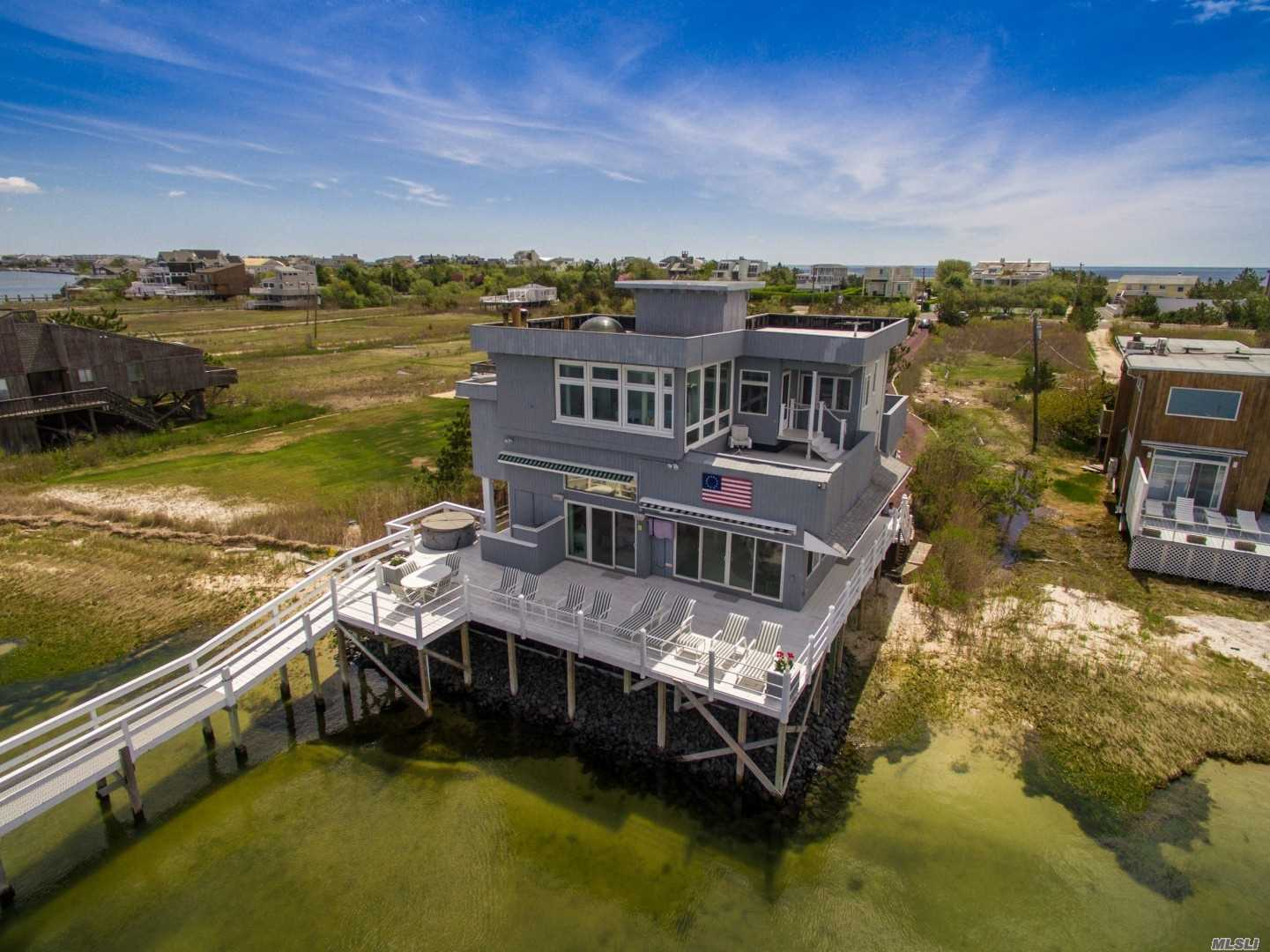 Photo of home for sale at 358 Dune Rd, Westhampton Bch NY