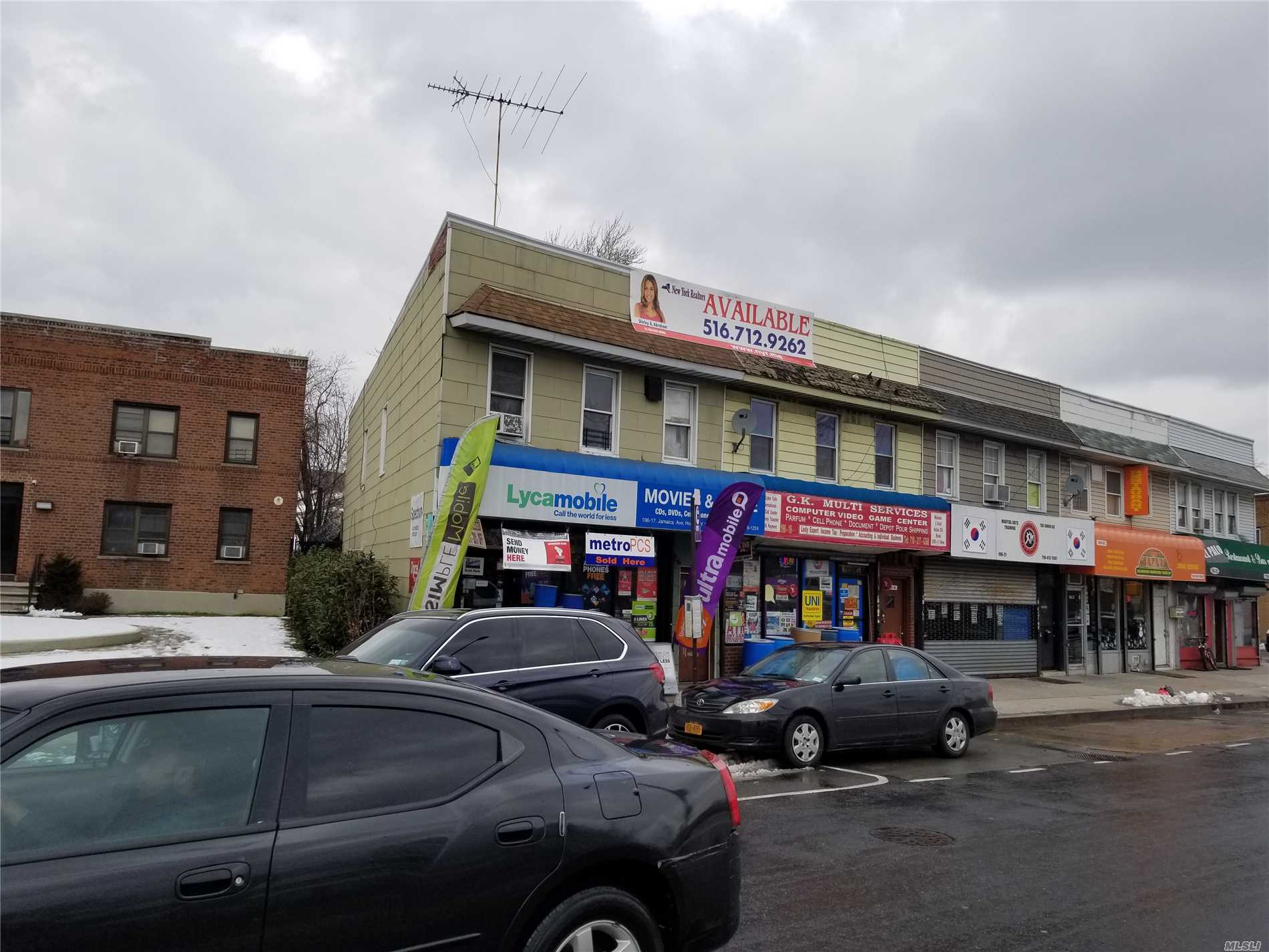 Photo of home for sale at 196-17 Jamaica Ave, Hollis NY