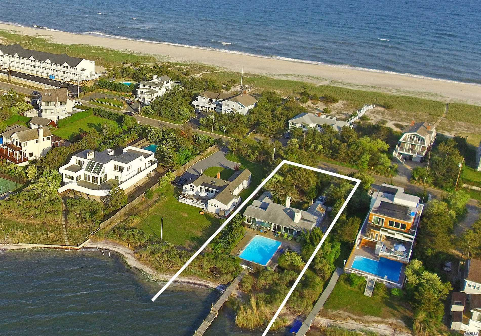 Photo of home for sale at 488 Dune Rd, Westhampton Bch NY