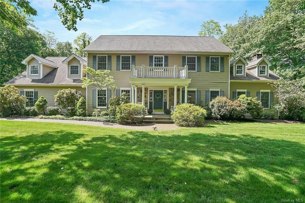 Spacious colonial in sought after Cortlandt Estates set on .93 pvt acres. Pride of ownership is felt the minute you walk through the door of this gracious home. French doors lead to large LR. FDR opens to oversized EIK w/SGD to deck, island w/2nd sink, granite countertops & SS appliances. Sun filled FR w/ceiling to floor stone FPL, custom windows & 2nd door to deck. Lndry on main level. The upper level features master bedroom suite WIC & bath w/whirlpool tub, heated floors & shower. 3 additional bedrooms, office, & full bath on upper level. Full stairway leads to semi-finished full, clean storage attic (545 sf). The lower level is perfect for entertaining w/great room large enough for recreation room, game room, office, bar, bath & wine cel