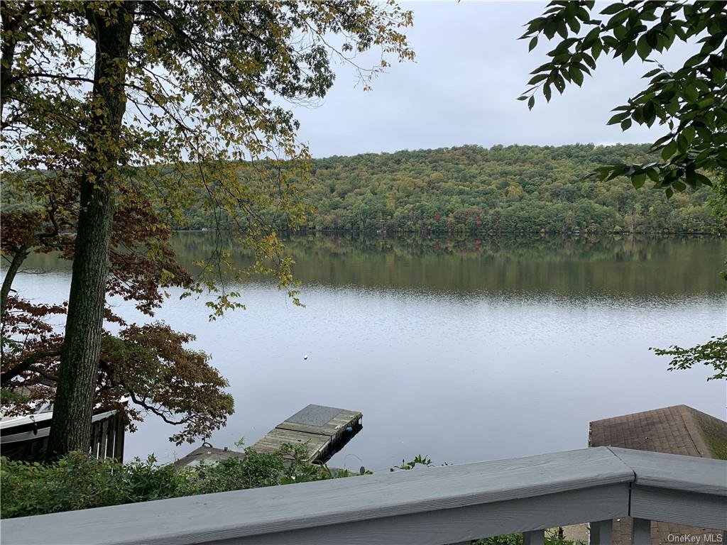 Lakeside view from your newly painted deck
