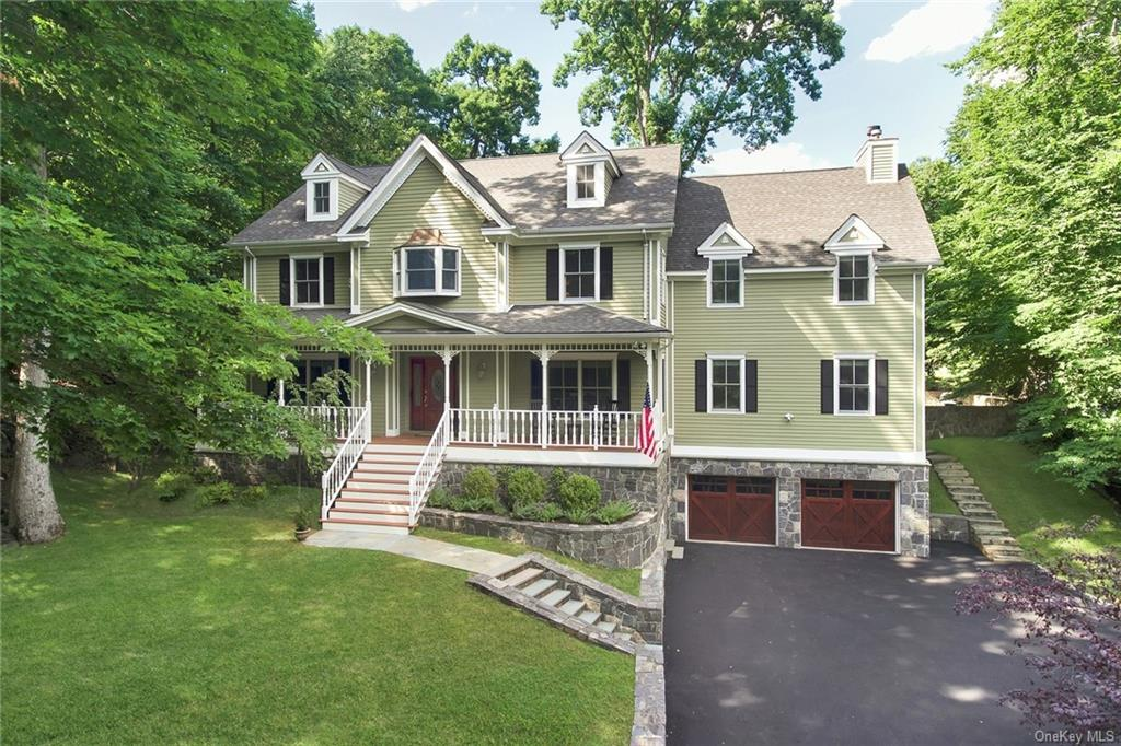 Spectacular Victorian-inspired front porch Colonial on cul de sac in Croton on Hudson, the best plac
