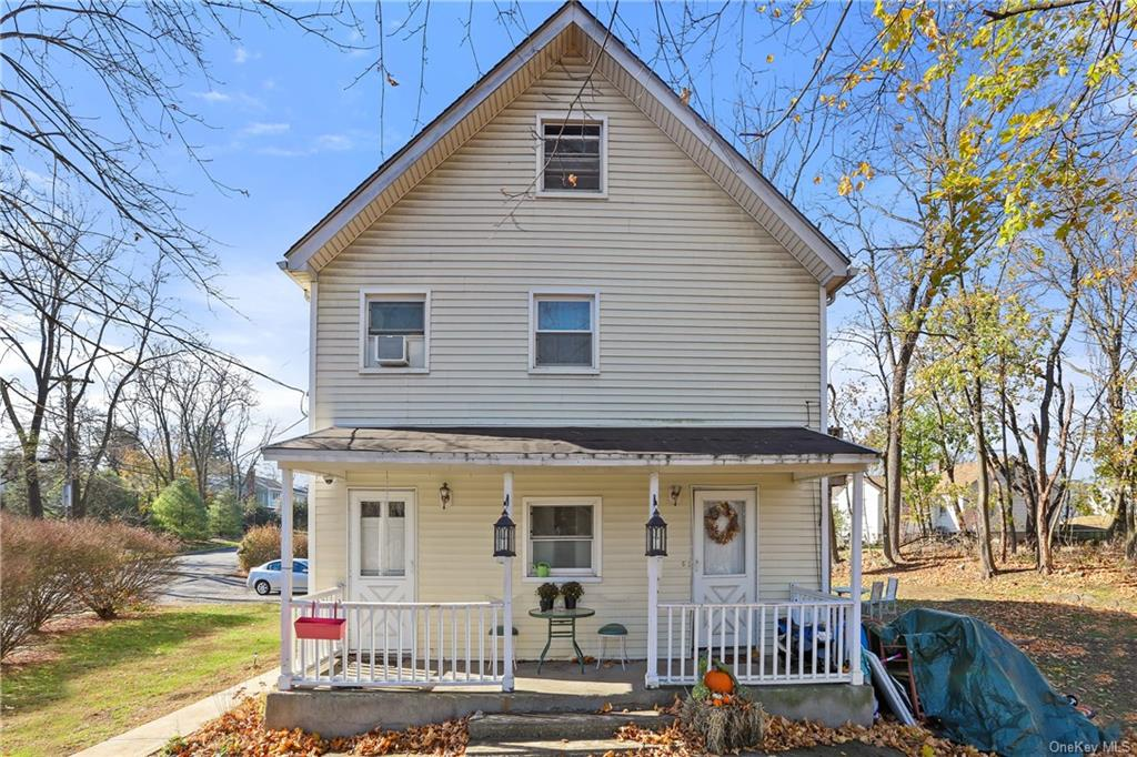 Two Unit Front Porch Colonial on double lot the length of an entire street with frontage to Route 9