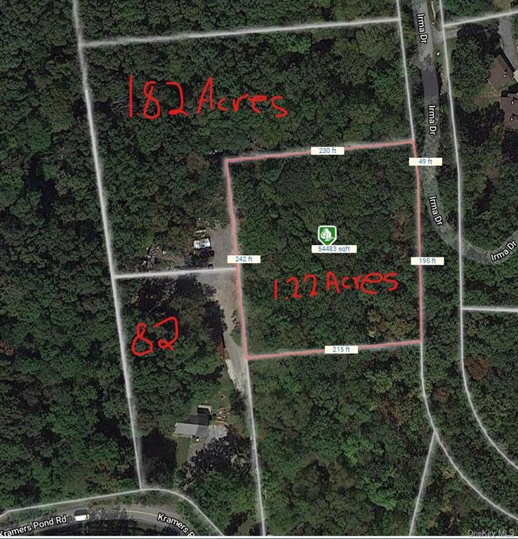 Lots 18 and 19 Irma Dr. being sold as one lot. They total in size 3.04 of an acre. There is a right
