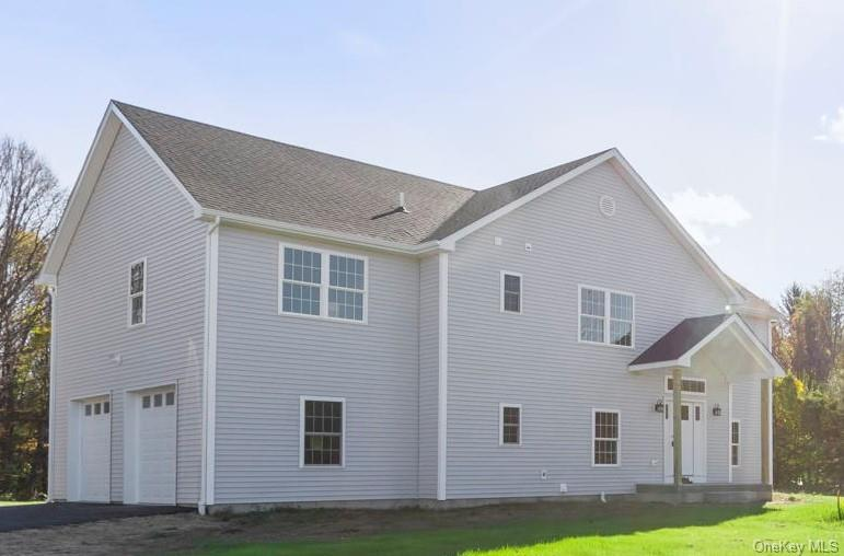 Front of newly constructed home