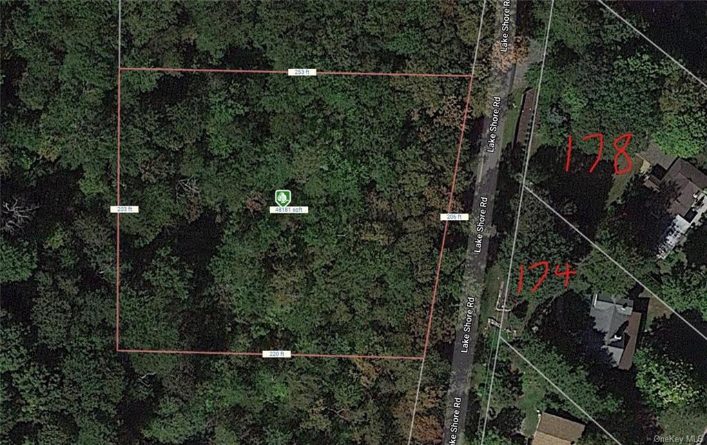 1.17 Acres in Roaring Brook of Putnam Valley. 206 Ft of Road Frontage and 220 Ft on left side and 25